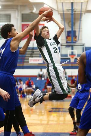 2-17-16<br /> Kokomo blue vs Eastern 8th grade basketball<br /> Eastern's Kaleb West<br /> Kelly Lafferty Gerber | Kokomo Tribune