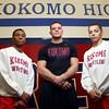2-18-16<br /> Kokomo's Jabin Wright, coach Ryan Wells, and Szhantrayle Roberson will be heading to state on Saturday.<br /> Kelly Lafferty Gerber | Kokomo Tribune