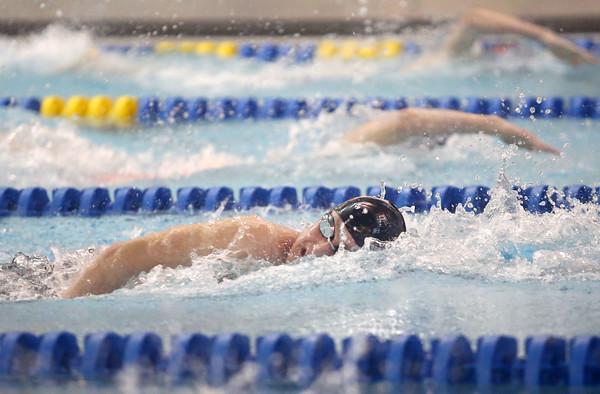 2-18-16<br /> Sectional swimming prelims<br /> Western's Josh Everetts in the 200 Y Freestyle<br /> Kelly Lafferty Gerber | Kokomo Tribune