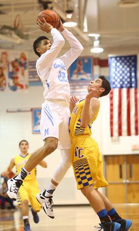2-26-16<br /> Maconaquah vs Tri Central boys basketball<br /> Maconaquah's Brayden Marley<br /> Kelly Lafferty Gerber | Kokomo Tribune