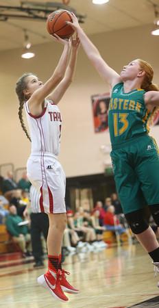 2-2-16 Taylor vs Eastern girls sectional basketball <br /> Taylor's Savannah Delgado<br /> Kelly Lafferty Gerber   Kokomo Tribune