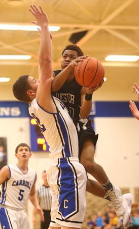 2-23-16<br /> Western vs Carroll boys basketball<br /> Western's Jeffrey McClung<br /> Kelly Lafferty Gerber   Kokomo Tribune
