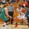 2-2-16 Taylor vs Eastern girls sectional basketball <br /> Eastern's Carma McCombs and Taylor's Cami Hansen<br /> Kelly Lafferty Gerber | Kokomo Tribune