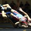 2-6-16<br /> Regional Wrestling<br /> Maconaquah's Zack Bullock in the 120.<br /> Kelly Lafferty Gerber | Kokomo Tribune