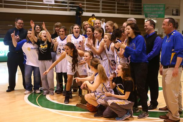 2-6-16 Tri Central girls basketball sectional win Kelly Lafferty Gerber   Kokomo Tribune