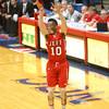 2-19-16<br /> Lafayette Jeff vs Richmond<br /> Cortiz Buckner puts up a three pointer.<br /> Kelly Lafferty Gerber | Kokomo Tribune