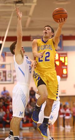 2-26-16<br /> Maconaquah vs Tri Central boys basketball<br /> Tri Central's Colten Leininger<br /> Kelly Lafferty Gerber | Kokomo Tribune