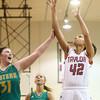 2-2-16 Taylor vs Eastern girls sectional basketball<br /> Taylor's Mya Dunham<br /> Kelly Lafferty Gerber | Kokomo Tribune