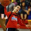 2-26-16<br /> Maconaquah vs Tri Central boys basketball<br /> 8-year-old Hayes Purdy tosses the ball back to Maconaquah during warm ups.<br /> Kelly Lafferty Gerber | Kokomo Tribune