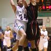 2-6-16 Tri Central girls basketball sectional win <br /> Tri Central's Taylor Davis<br /> Kelly Lafferty Gerber | Kokomo Tribune