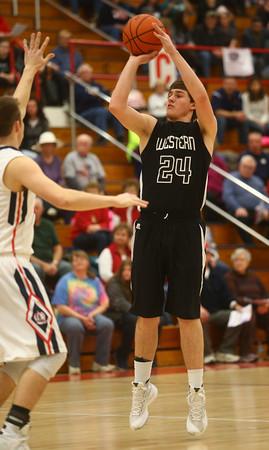 2-12-16<br /> Cass vs Western boys basketball<br /> Western's Brodee Lipinski<br /> Kelly Lafferty Gerber   Kokomo Tribune