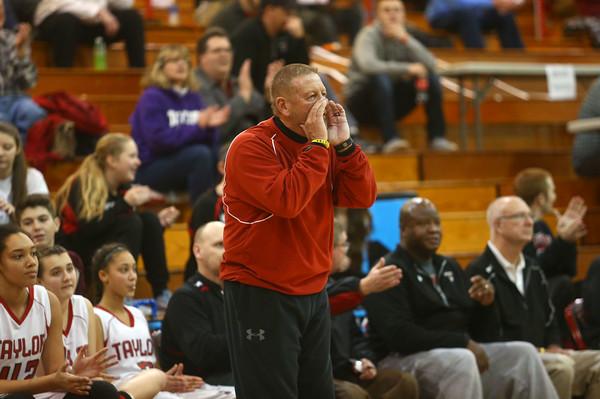 2-2-16 Taylor vs Eastern girls sectional basketball <br /> Coach Bentzler<br /> Kelly Lafferty Gerber | Kokomo Tribune