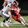 Logan Comer fights for yards against Buffalo Gap's Jake Shelton