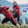 Jaylen McNair drops back looking for an open receiver