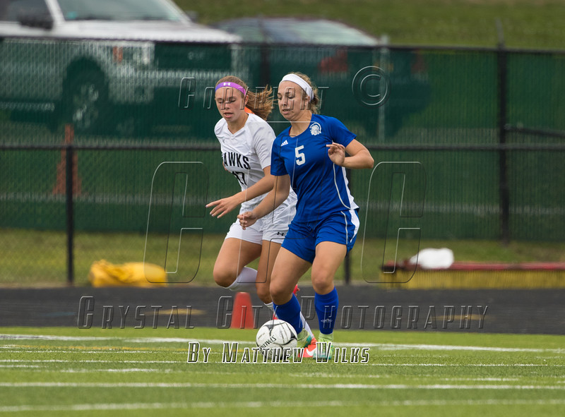 Girls High School Varsity Soccer. Maine-Endwell Spartans at Corning Hawks. September 17, 2016.