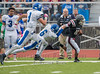 NYSPHSAA Section 4, Class AA Semi-final, Varsity Football.  Horseheads Blue Raiders at Elmira Express. October 29, 2016.