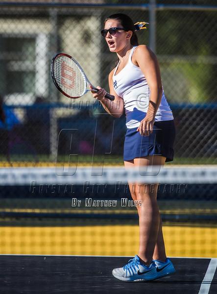 Girls High School Tennis.  Notre Dame Crusaders at Corning Hawks. September 12, 2016.