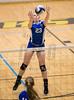 Varsity High School Volleyball. Maine-Endwell Spartans at Corning Hawks. September 15, 2016.