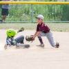 JOE COLON/CHRONICLE<br /> Braden Hammer of Wellington Advantage Construction puts the tag down.