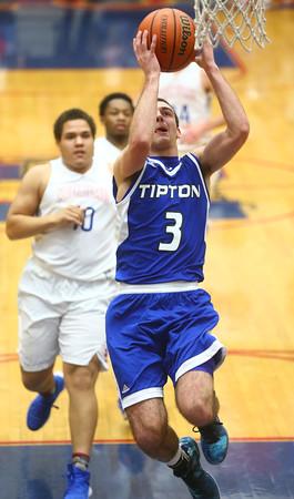 1-23-16<br /> Kokomo vs Tipton boys basketball<br /> Tipton's Mason Degenkolb<br /> Kelly Lafferty Gerber   Kokomo Tribune