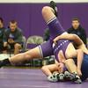 1-21-16<br /> Northwestern vs Cass wrestling<br /> Northwestern's Colten Pipenger and Cass' Azarius Roberts in the heavyweight.<br /> Kelly Lafferty Gerber | Kokomo Tribune