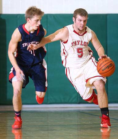 1-28-16 Taylor boys basketball<br /> Taylor's Cole Schroeder<br /> Kelly Lafferty Gerber | Kokomo Tribune