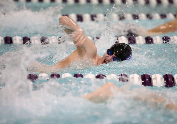 1-26-16 NWHS vs WHS swim meet<br /> Northwestern's Nick Jozwiak in the 500 Y Freestyle<br /> Kelly Lafferty Gerber | Kokomo Tribune