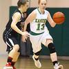 1-9-16<br /> Eastern vs Taylor girls basketball<br /> Eastern's Carma McCombs and Taylor's Hannah Mullinax<br /> Kelly Lafferty Gerber | Kokomo Tribune