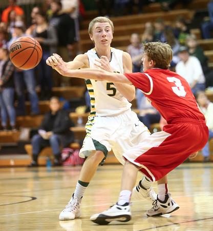 1-8-16<br /> Eastern vs Maconaquah boys basketball<br /> Eastern's Tristen Moyers looks for a pass.<br /> Kelly Lafferty Gerber | Kokomo Tribune