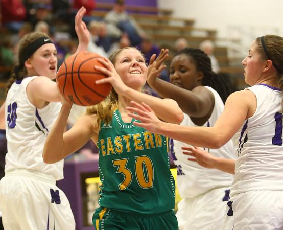 1-5-16<br /> Northwestern vs Eastern girls basketball<br /> Eastern's Emily Richards<br /> Kelly Lafferty Gerber   Kokomo Tribune
