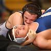 1-20-16<br /> WHS wrestling<br /> Western's Matt Scott and Central Catholic's Felipe Viera in the 170.<br /> Kelly Lafferty Gerber | Kokomo Tribune