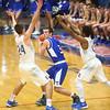 1-23-16<br /> Kokomo vs Tipton boys basketball<br /> Tipton's Mason Degenkolb looks for a pass around Kokomo's defense.<br /> Kelly Lafferty Gerber | Kokomo Tribune