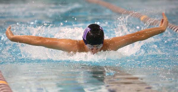 1-26-16 NWHS vs WHS swim meet<br /> Northwestern's Michael Bolyard in the 200 Y IM<br /> Kelly Lafferty Gerber | Kokomo Tribune