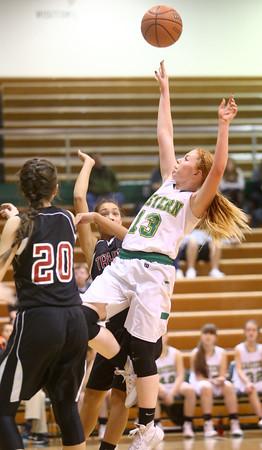1-9-16<br /> Eastern vs Taylor girls basketball<br /> Eastern's Carma McCombs<br /> Kelly Lafferty Gerber | Kokomo Tribune
