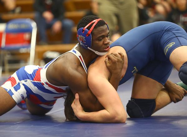 1-30-16<br /> Sectional Wrestling<br /> Kokomo's DaShawn Barbary in the 170<br /> Kelly Lafferty Gerber   Kokomo Tribune