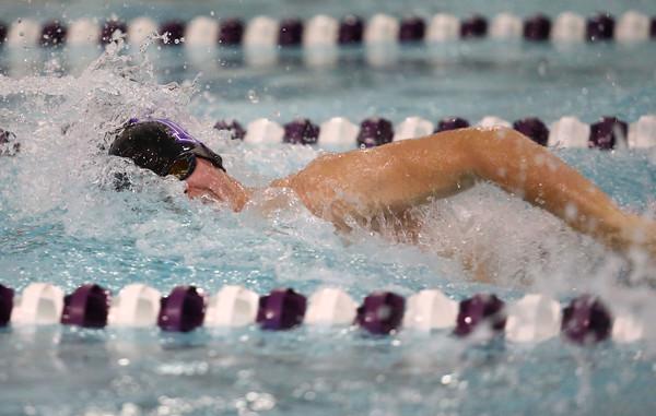 1-26-16 NWHS vs WHS swim meet<br /> Northwestern's Will Harris in the 50 Y Freestyle<br /> Kelly Lafferty Gerber | Kokomo Tribune
