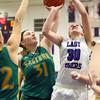 1-5-16<br /> Northwestern vs Eastern girls basketball<br /> Eastern's Hailey Holliday and Northwestern's Stephanie Burns<br /> Kelly Lafferty Gerber | Kokomo Tribune