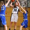 1-14-16<br /> Carroll County vs Western girls basketball<br /> Western's Clair Lechner<br /> Kelly Lafferty Gerber | Kokomo Tribune