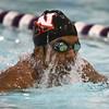 1-26-16 NWHS vs WHS swim meet<br /> Western's Reggie Manuel in the 200 Y IM<br /> Kelly Lafferty Gerber | Kokomo Tribune