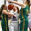 1-5-16<br /> Northwestern vs Eastern girls basketball<br /> Northwestern's Michelle Hunkeler and Eastern's Abby Kolk and Hailey Holliday<br /> Kelly Lafferty Gerber | Kokomo Tribune