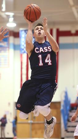 1-29-16   Mac vs Cass Bbball <br /> Cass' Ryan Bixler<br /> Kelly Lafferty Gerber   Kokomo Tribune