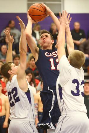 1-22-16<br /> Northwestern vs Cass boys basketball<br /> Cass' Kace Kitchel<br /> Kelly Lafferty Gerber | Kokomo Tribune