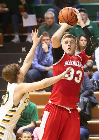 1-8-16<br /> Eastern vs Maconaquah boys basketball<br /> Maconaquah's Wyatt Hughes<br /> Kelly Lafferty Gerber | Kokomo Tribune