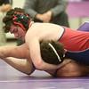 1-21-16<br /> Northwestern vs Cass wrestling<br /> Northwestern's Mason Ogle and Cass' Nile Wise in the 182.<br /> Kelly Lafferty Gerber | Kokomo Tribune