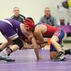 1-21-16<br /> Northwestern vs Cass wrestling<br /> Northwestern's Drake Hall and Cass' Dillon Waggoner in the 145.<br /> Kelly Lafferty Gerber | Kokomo Tribune