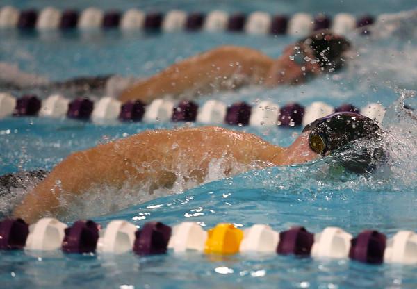 1-26-16 NWHS vs WHS swim meet<br /> Northwestern's Gray Longshore in the 200 Y Freestyle<br /> Kelly Lafferty Gerber | Kokomo Tribune