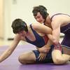 1-21-16<br /> Northwestern vs Cass wrestling<br /> Northwestern's Evan Cardwell and Cass' Wesley Matthews in the 170.<br /> Kelly Lafferty Gerber | Kokomo Tribune
