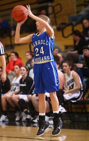 1-14-16<br /> Carroll County vs Western girls basketball<br /> Carroll's Sidney Fisher<br /> Kelly Lafferty Gerber | Kokomo Tribune