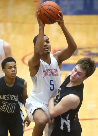 1-13-16<br /> Kokomo vs Western boys basketball<br /> Kokomo's Jordan Matthews<br /> Kelly Lafferty Gerber | Kokomo Tribune