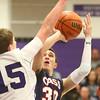 1-22-16<br /> Northwestern vs Cass boys basketball<br /> Cass' Evan Ohman<br /> Kelly Lafferty Gerber | Kokomo Tribune